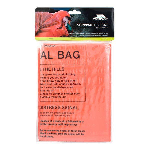 Trespass Vis Survival Bag in Orange Hi