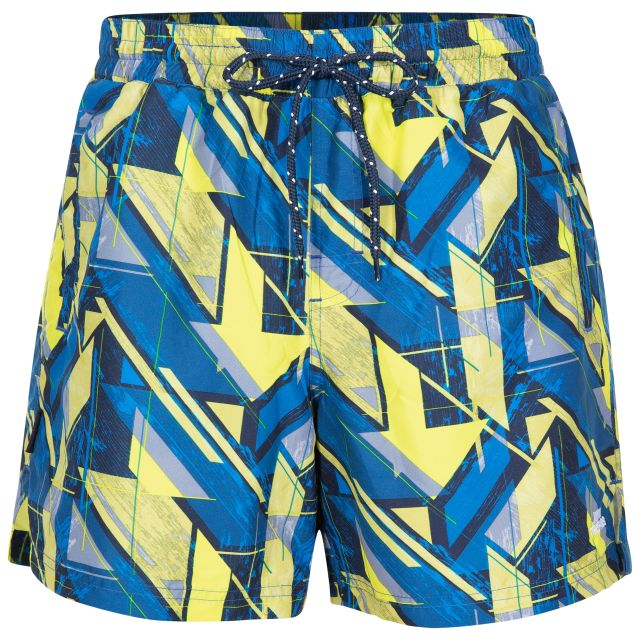 Rand Men's Swim Shorts in Blue, Front view on mannequin
