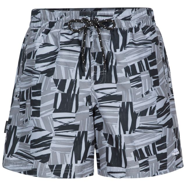 Rand Men's Swim Shorts in Grey, Front view on mannequin