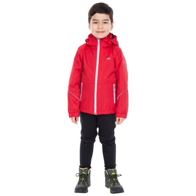 Trespass Kids Waterproof Jacket in Red Rapt