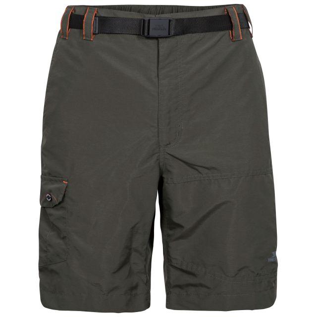 Rathkenny Men's Cargo Shorts in Khaki, Front view on mannequin