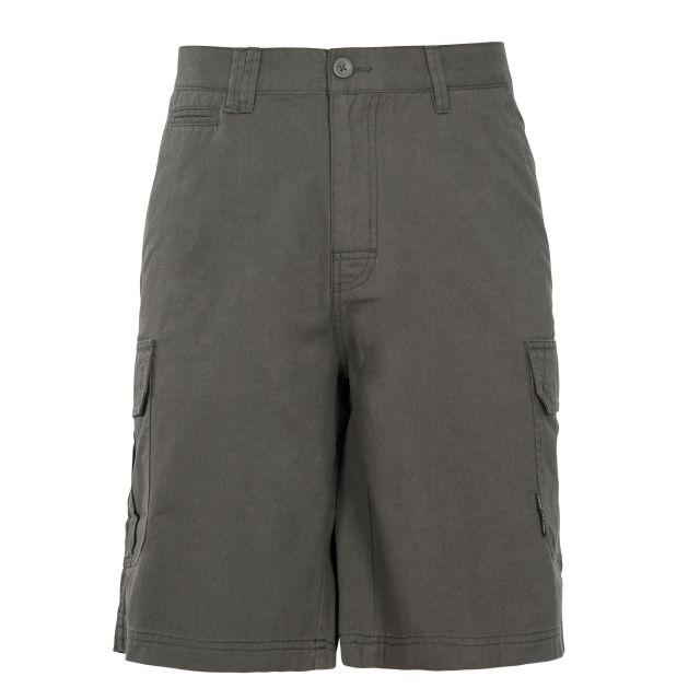 Rawson Men's Cargo Shorts in Khaki, Front view on mannequin