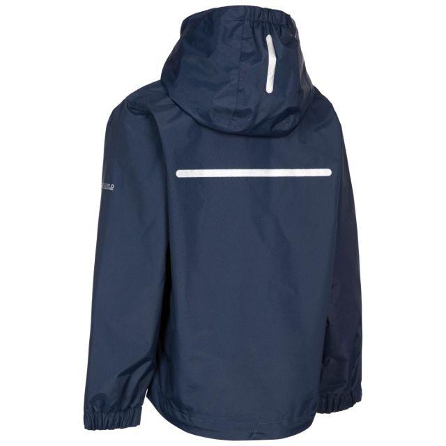 Trespass Kids Waterproof Detachable Hood Jacket in Pear Raymont