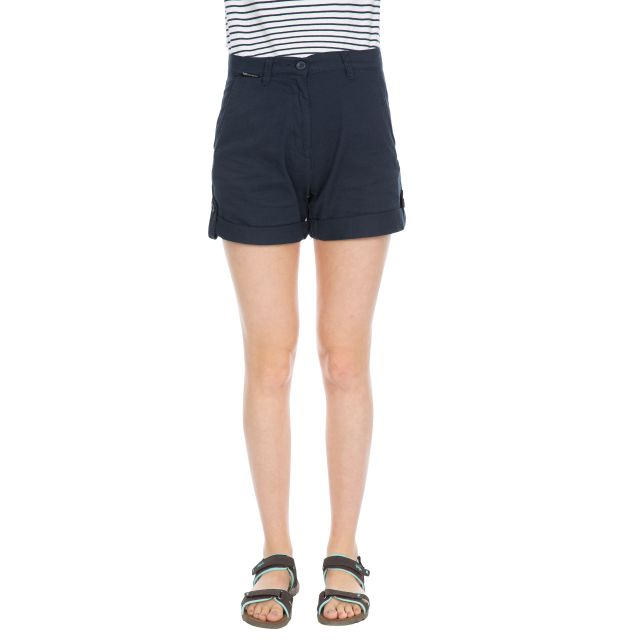 Rectify Women's Breathable Cotton Shorts in Navy