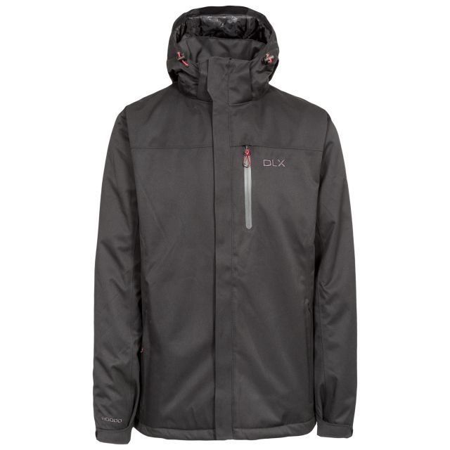 Renner Men's DLX Insulated Waterproof Jacket in Black, Front view on mannequin