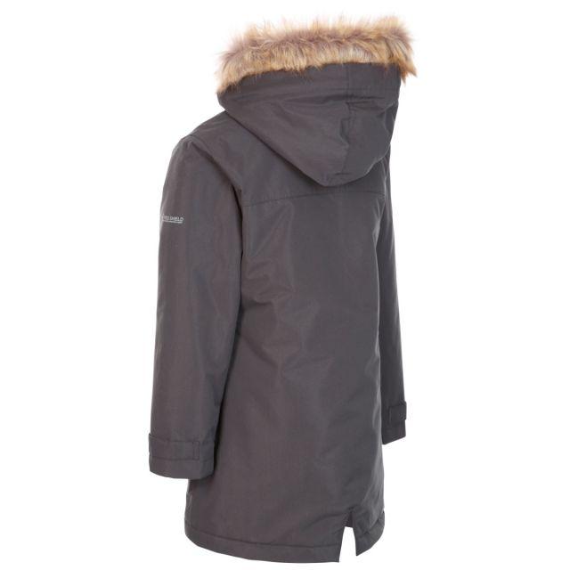 Trespass Kids Waterproof Jacket in Grey Rhoda