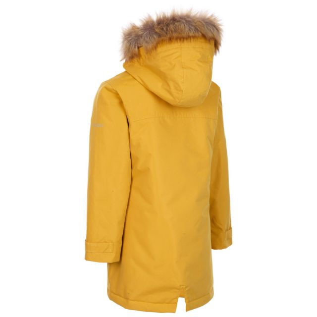 Trespass Kids Waterproof Jacket in Yellow Rhoda