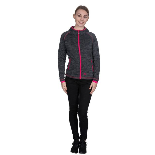 Riverstone Women's Full Zip Fleece Hoodie in Black