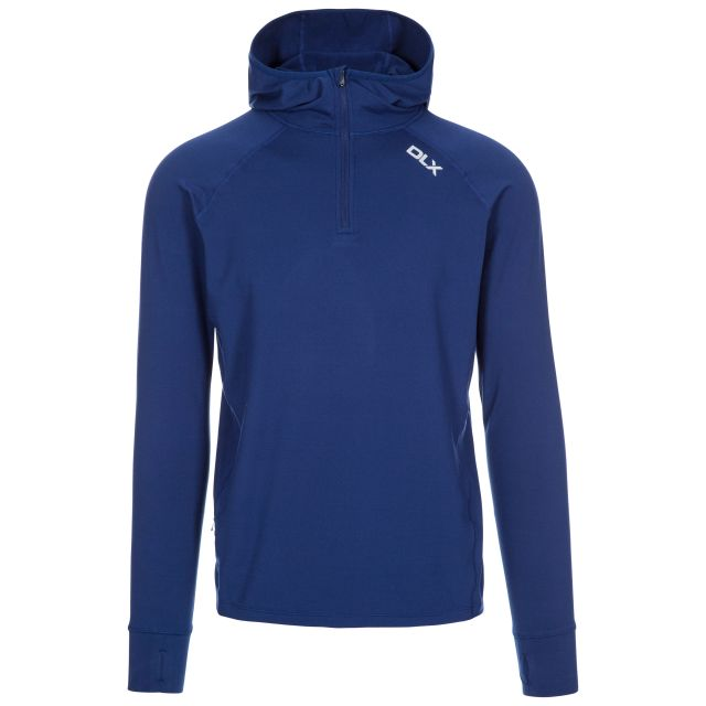 Robins Men's DLX Hooded Active Top in Blue