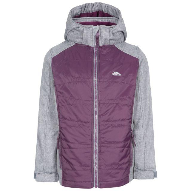 Trespass Girls Softshell Jacket in Purple Rockrose