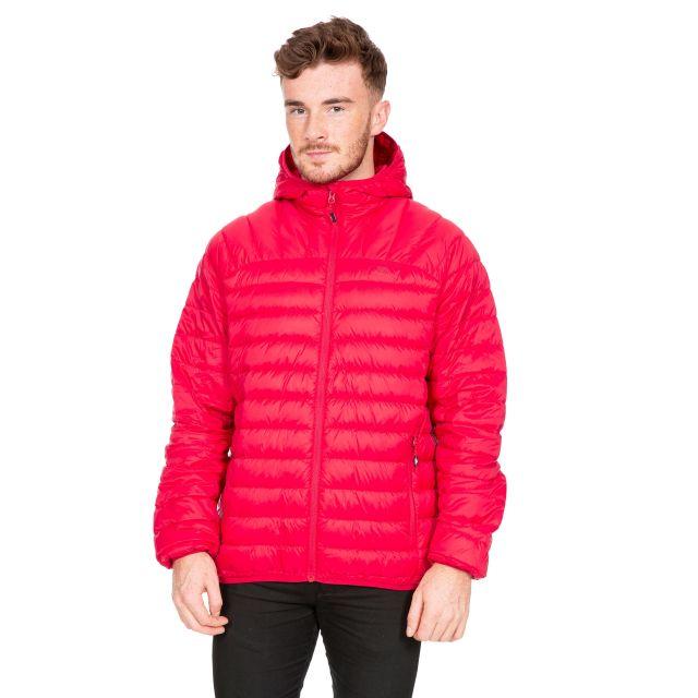 Romano Men's Down Packaway Jacket in Red