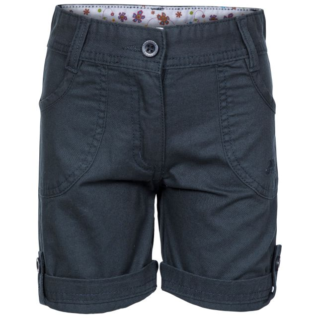 Ronya Kids' Casual Cotton Shorts in Navy, Front view on mannequin