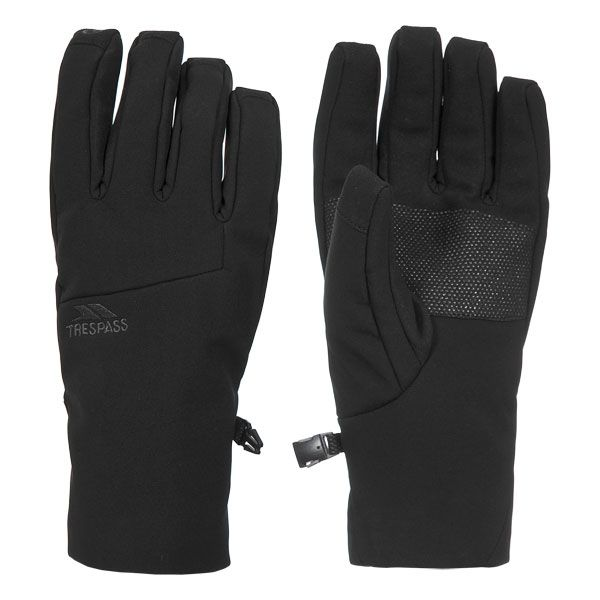 Trespass Adults Softshell Gloves in Black Royce