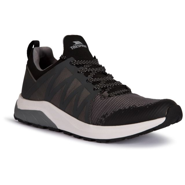Trespass Men's Casual Lightweight Trainer Ruairi Grey, Angled view of footwear