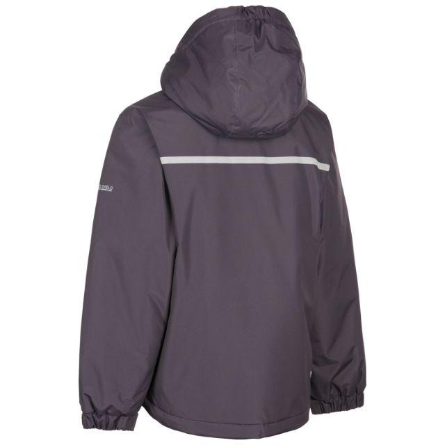 Trespass Boys Waterproof Jacket Grey Rudi