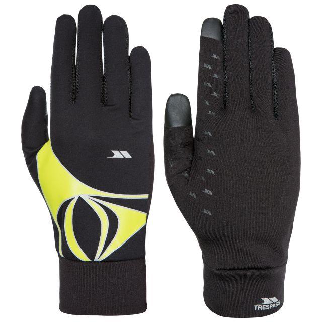Trespass Adults Touchscreen Compatible Running Gloves in Black Runero