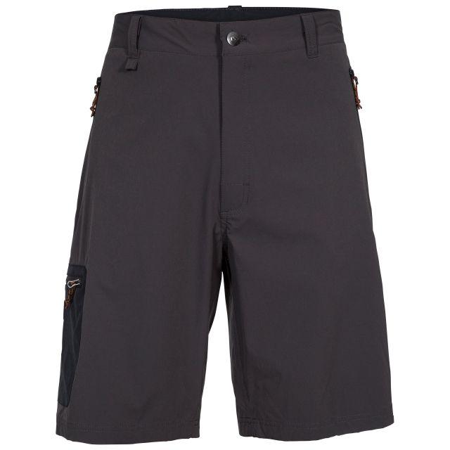 Runnel Men's Cargo Shorts in Khaki, Front view on mannequin