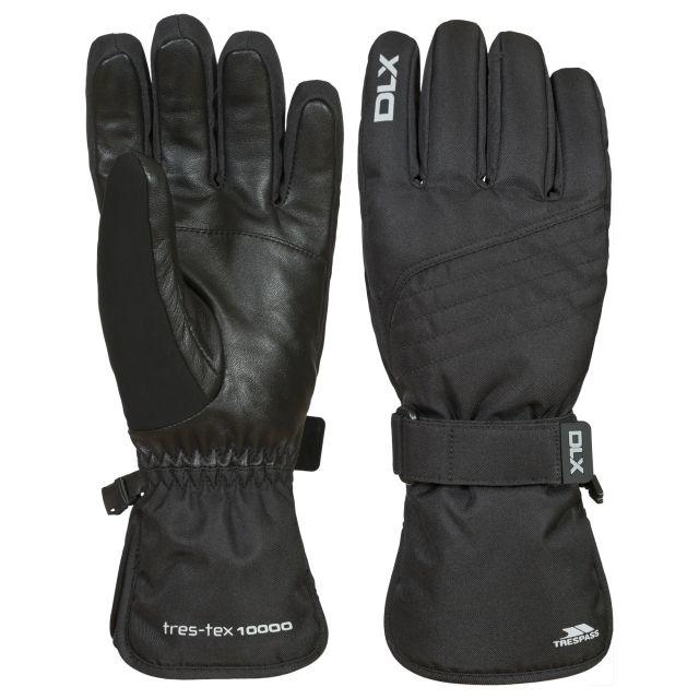 Trespass DLX Adults Waterproof Gloves in Black Rutger