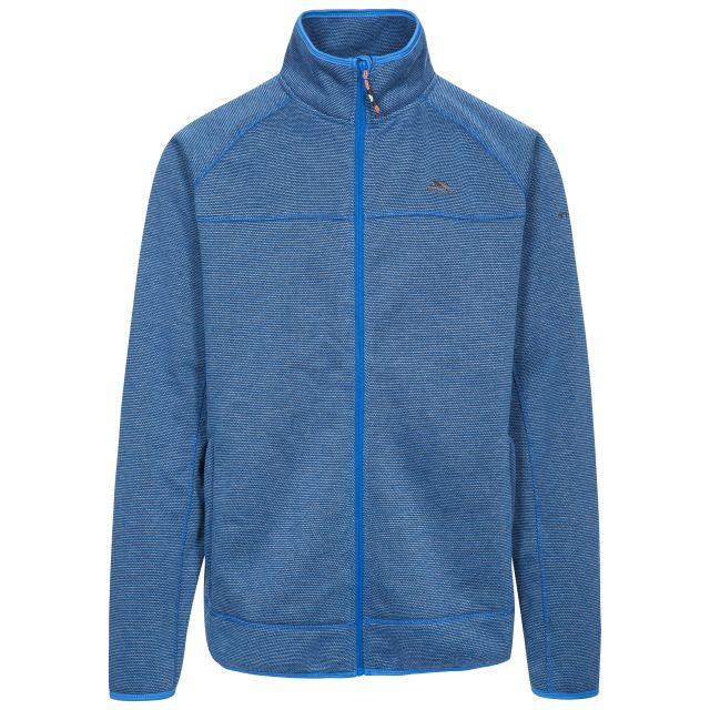 Rutland Men's Fleece Jacket in Blue, Front view on mannequin