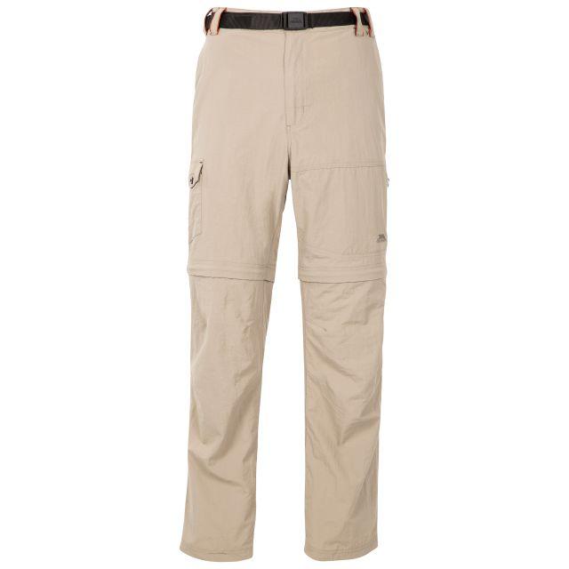 Rynne Men's Zip Off Cargo Trousers in Beige