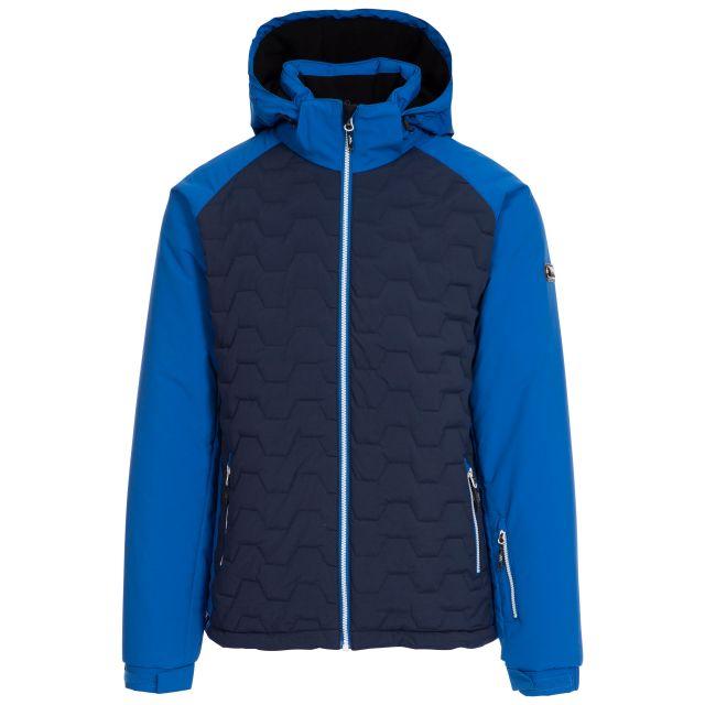 Samson Men's Waterproof Ski Jacket in Blue, Front view on mannequin
