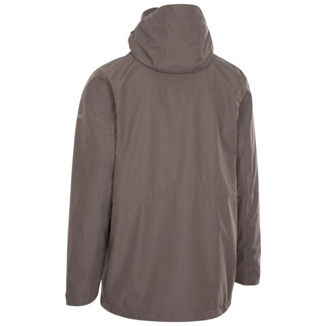 Trespass Men's Waterproof Jacket Sandy Khaki