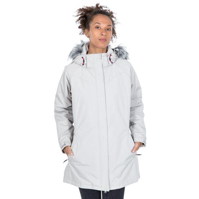 San Fran Women's Waterproof Parka Jacket in Beige