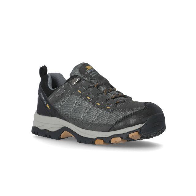 Scarp Men's Walking Shoes in Grey, Angled view of footwear