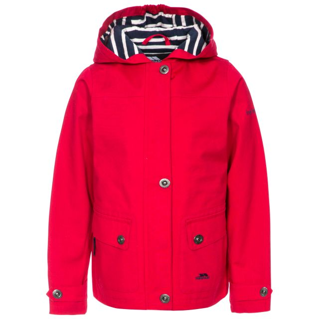 Seastream Kids' Waterproof Jacket in Red, Front view on mannequin
