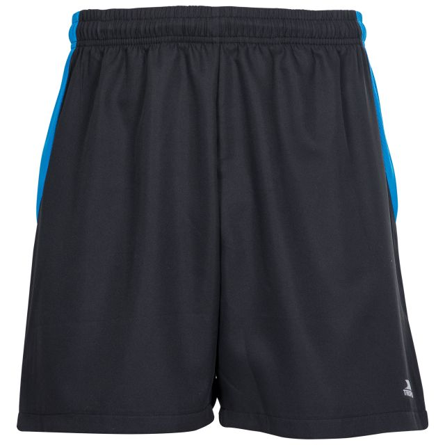 Shane Men's Active Shorts in Black, Front view on mannequin