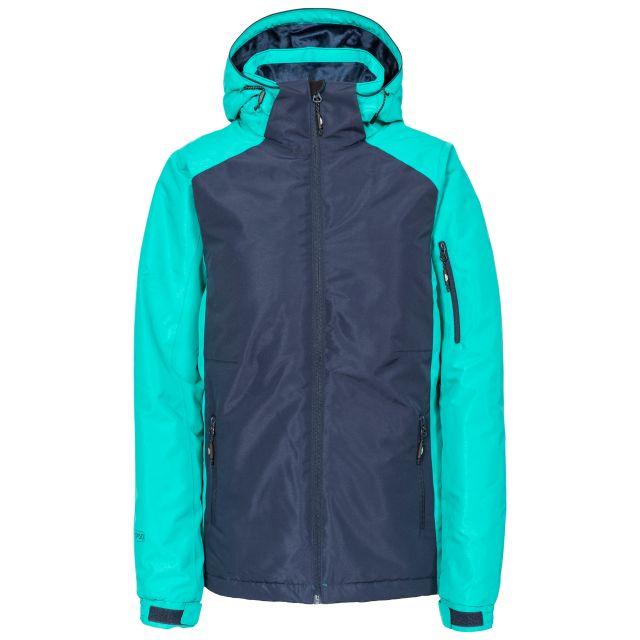 Sheelin Women's Waterproof Ski Jacket in Navy, Front view on mannequin