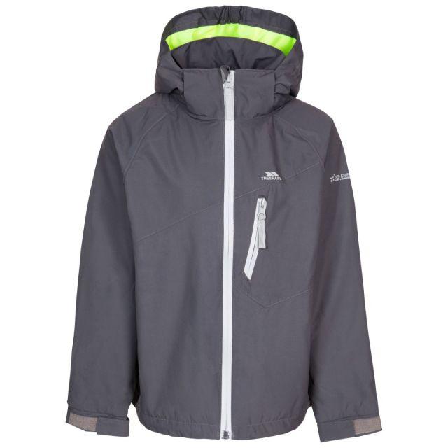 Trespass Kids' Waterproof Detachable Hood Jacket Shinye - CRN, Front view on mannequin