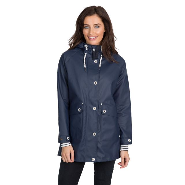 Trespass Womens Waterproof Jacket Shoreline Navy