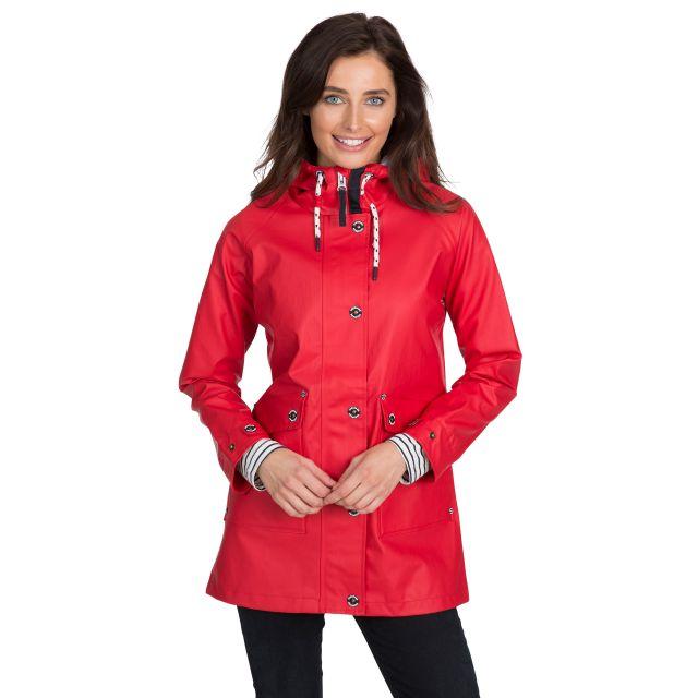 Trespass Womens Waterproof Jacket Shoreline Red