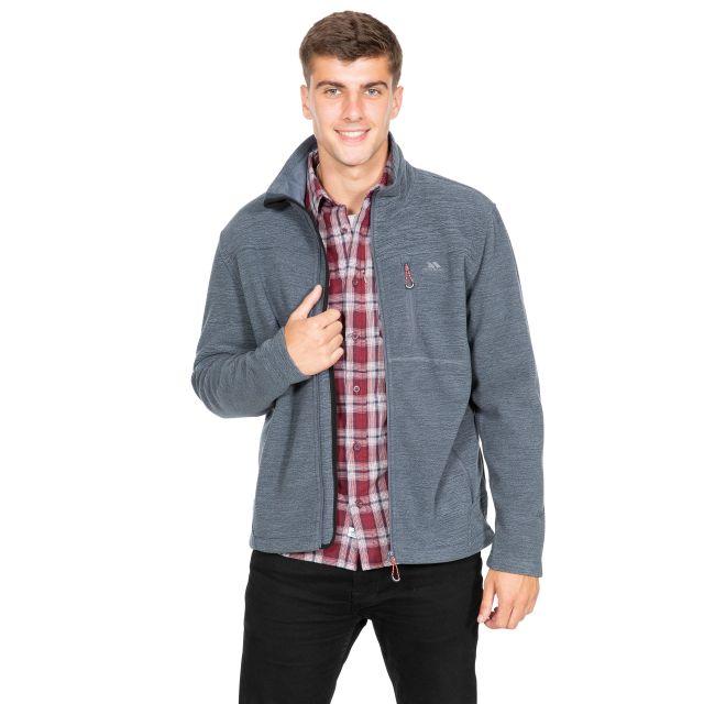Shravedell Men's Fleece Jacket in Light Grey