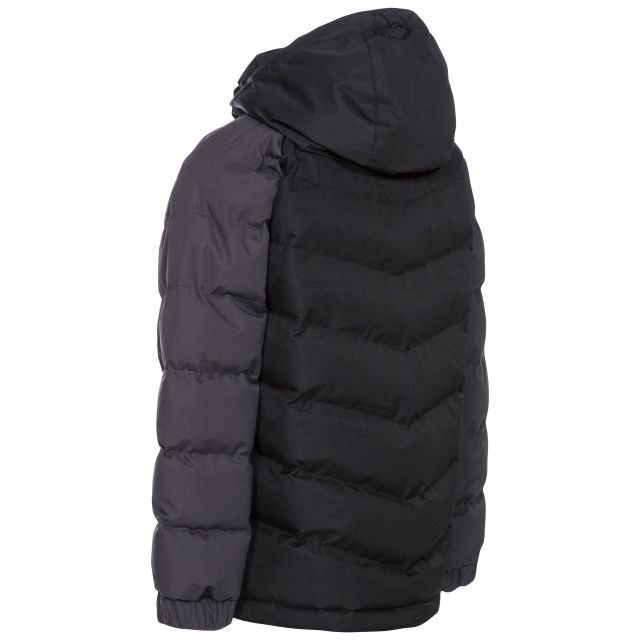 Trespass Boys Padded Casual Jacket in Black Sidespin