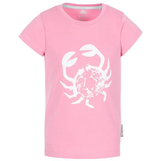 Simply Kids' Printed T-Shirt in Pink, Front view on mannequin