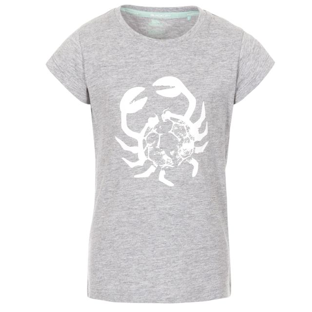 Simply Kids' Printed T-Shirt in Light Grey, Front view on mannequin