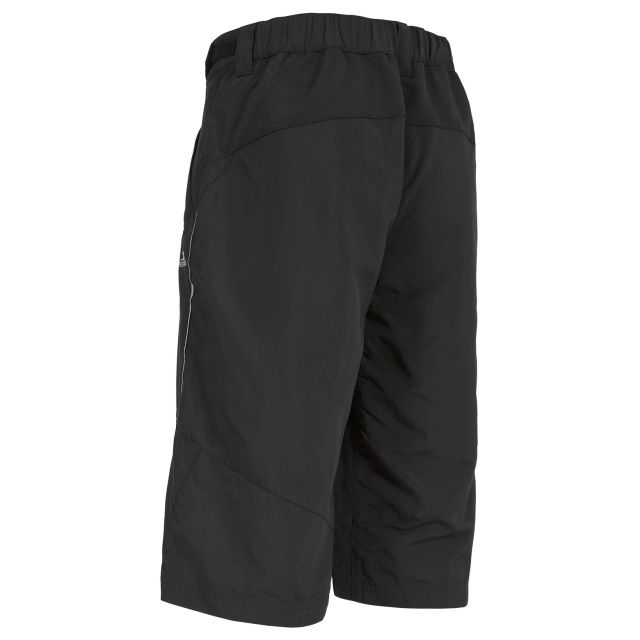 Sinem Women's Knee Length Quick Dry Cycling Shorts in Black