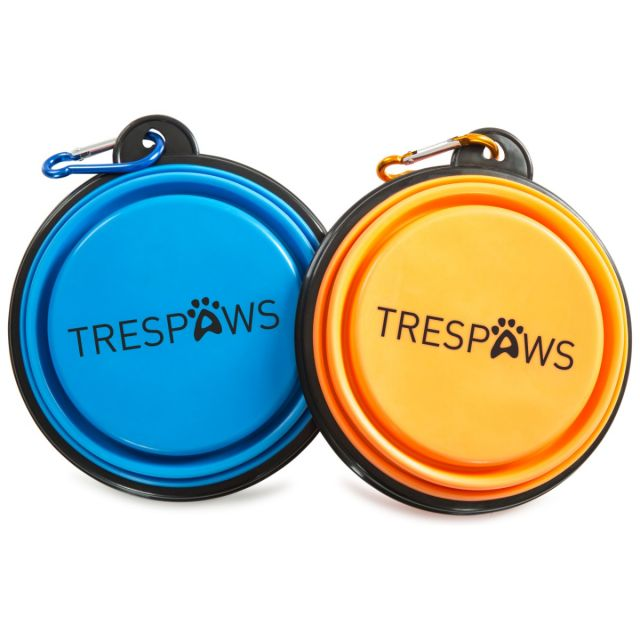 Sippy Trespaws Collapsible Dog Bowl Twin Pack in Assorted, Front view