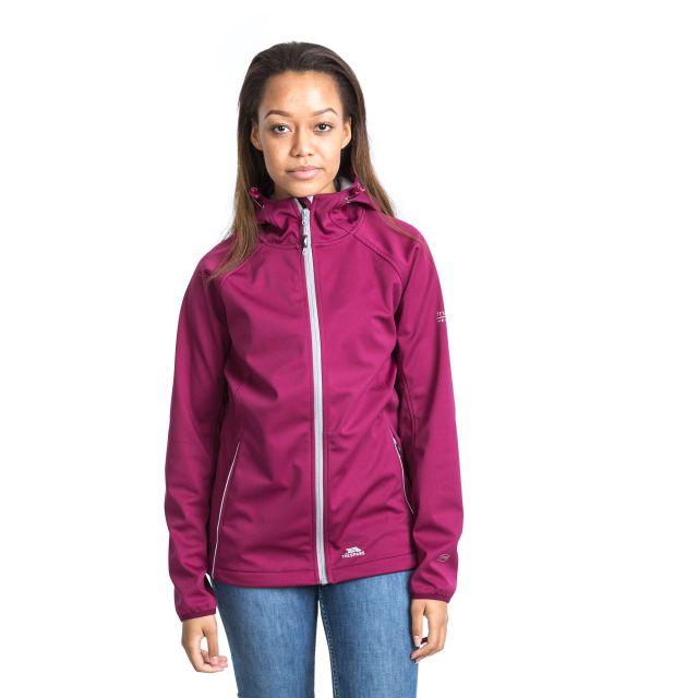 Sisely Women's Hooded Softshell Jacket in Burgundy