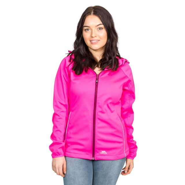 Sisely Women's Hooded Softshell Jacket in Pink