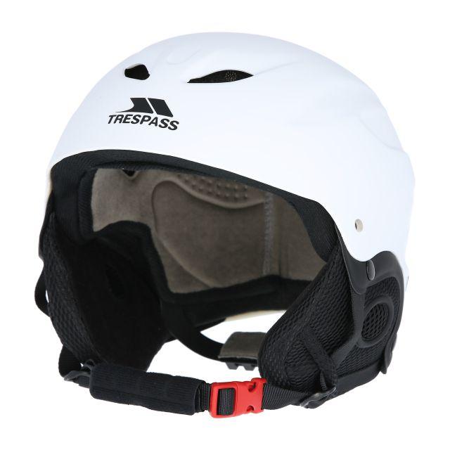 Skyhigh Adults' Ski Helmet in White, Angled view of helmet
