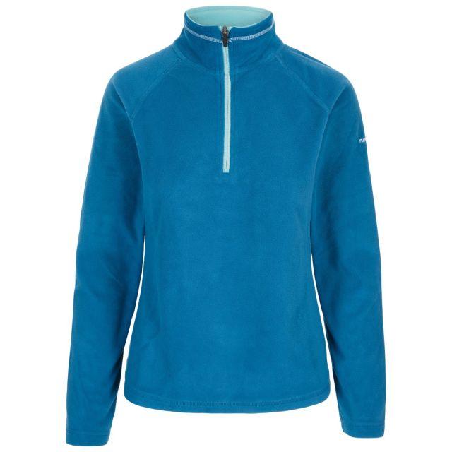 Skylar Women's Fleece in Cosmic Blue, Front view on mannequin