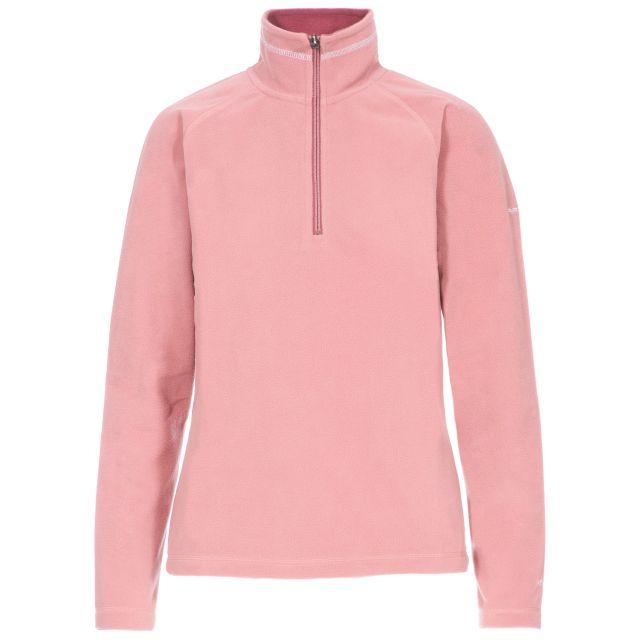 Skylar Women's Fleece in Pink, Front view on mannequin