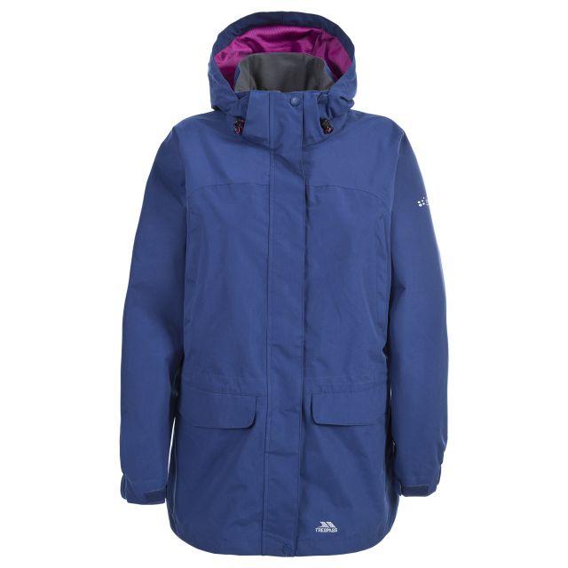 Skyrise Women's Hooded Waterproof Jacket in Navy