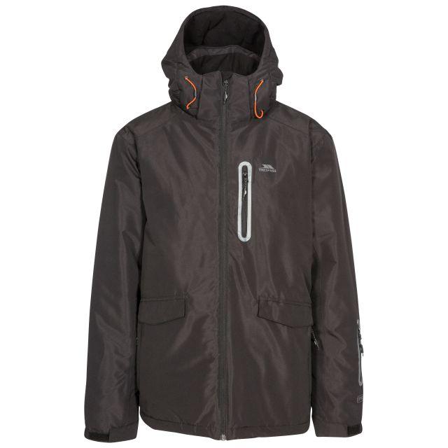 Slyne Men's Waterproof Ski Jacket in Black, Front view on mannequin