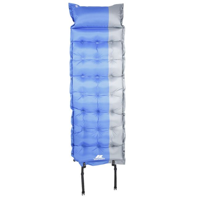 Inflatable Single Mattress with Pillow in Blue