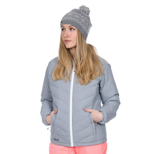 Sondra Women's DLX Down Jacket in Grey