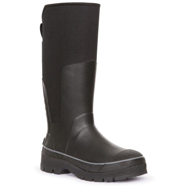 Trespass Mens' Full Length Welly Boot Soren, Angled view of footwear